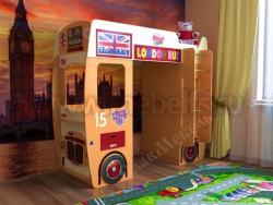 Детская кровать-чердак автобус (оранжевый).