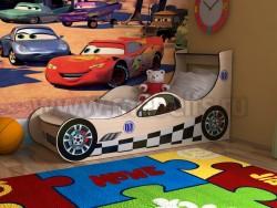 Детская кровать машинка 70х160 (дуб молочный).