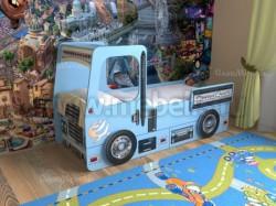 Кровать машинка грузовик 70х160см с ящиками (синий).