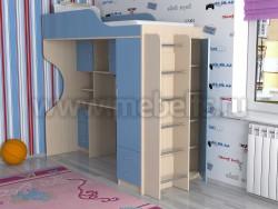 Кровать-чердак с рабочей зоной Дуэт-11 (ДМС)