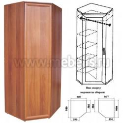Угловой шкаф (арт.444) разнобокий 39х56см.