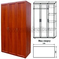 Шкаф для одежды трехстворчатый (арт.433-1)