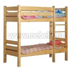 Двухъярусная детская кровать из сосны Классика (60х120см).