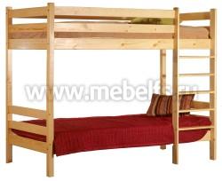 Двухъярусная детская кровать из сосны Классика (90х190см).