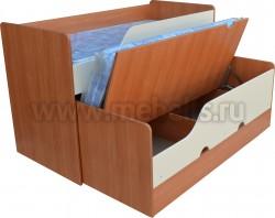 Двухъярусная выдвижная кровать Фунтик-3 В/Б (70х160см).