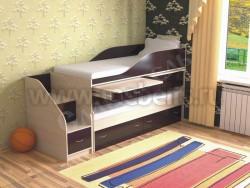Двухъярусная кровать для двоих детей Дуэт-8 (ДМВ).
