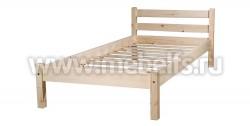 Кровать Классика 70x200 (без изножья) из массива сосны