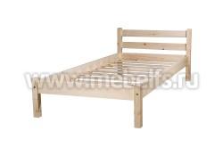 Кровать двуспальная Классика 140х190/1 из массива сосны.
