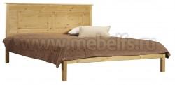 Двуспальная деревянная кровать T1 160х190 из сосны.