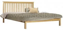Двуспальная кровать R1 (Рина) 140х190 из сосны.