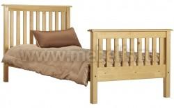 Односпальная кровать R2 (Рина) 120х190 из массива сосны