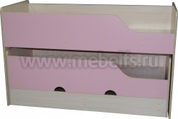 Двухъярусная выдвижная кровать Фунтик-3 ДМ/Р (70х160см) с матрасами.