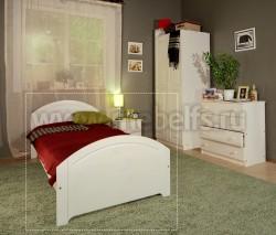 Односпальная кровать Инга 90х200 из сосны