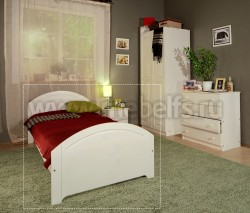 Односпальная кровать Инга 80х200 из сосны