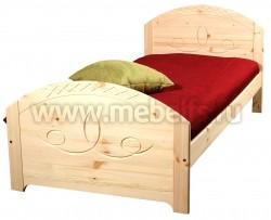 Односпальная деревянная кровать Элина 90х200 из сосны.