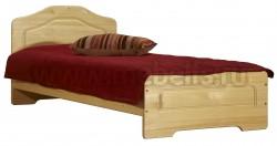 Односпальная деревянная кровать Эрика (80х190) из массива