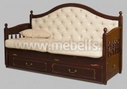 Кровать софа Валенсия арт.2-15 с ящиками из сосны