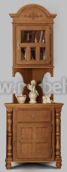 Комод Валенсия арт.2-28 с ящиком и надстройкой из массива дерева