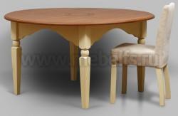 Обеденный стол круглый Валенсия арт.2-36 из массива сосны