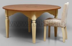 Обеденный стол круглый Валенсия арт.2-38 из массива сосны