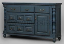 Комод Валенсия арт.2-56 с ящиками из массива сосны