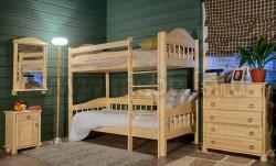 Кровать двухъярусная детская F3 из сосны (90х200см).