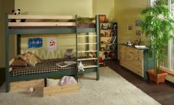 Двухъярусная кровать Классика 90х200см с 2мя ящиками