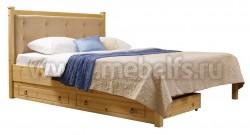 Кровать Дания-1/1 160х200см мягкое изголовье с ящиками