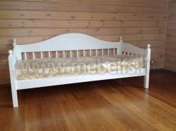 Односпальная кровать тахта F3 (70х150) из массива сосны.
