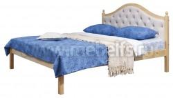 Кровать с мягким изголовьем К1 140х200 из массива
