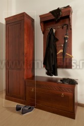 Одностворчатый шкаф Дания для прихожей из массива сосны