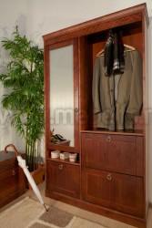 Шкаф для прихожей Дания из массива