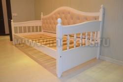 Кровать тахта мягкая F3 (Фрея) 90х190 без ящиков из сосны.