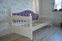 Кровать тахта мягкая F3 (Фрея) 90х200 без ящиков из сосны.