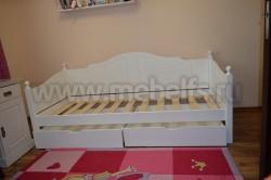 Кровать-тахта К3 (80х200) с двумя ящиками из массива