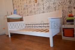 Односпальная кровать тахта Т3 (Тора) 80х190 из массива.