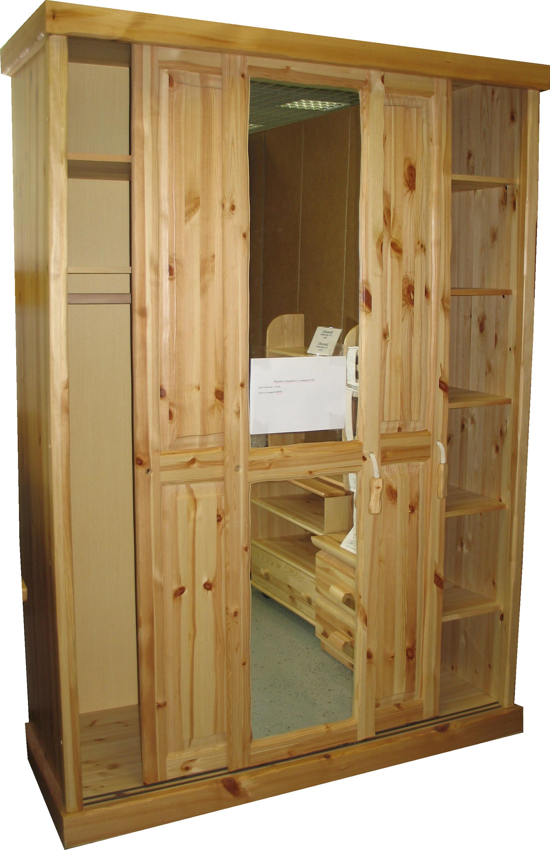Шкафы купе из массива сосны