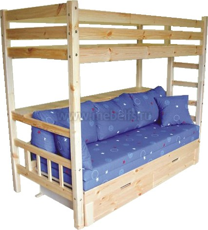 Детская Двухъярусная Кровать С Диваном В Московкой Обл