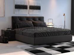 Двуспальная кровать Амели 180х200 с мягкой спинкой