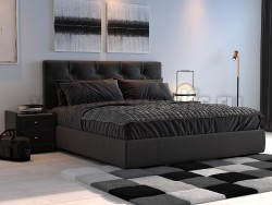 Кровать Амели 200х200 с мягкой спинкой