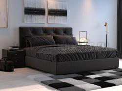 Двуспальная кровать Амели 140х200 с мягкой спинкой