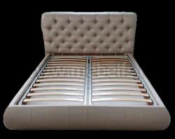 Односпальная кровать Вильгельм 120х200 с мягкой спинкой