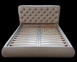 Двуспальная кровать Вильгельм 160х200 с мягкой спинкой