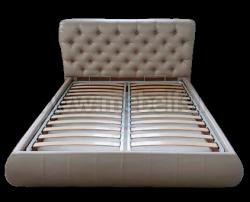 Двуспальная кровать Вильгельм 180х200 с мягкой спинкой