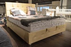Кровать Моник 90х200 с мягкой спинкой и подъемным механизмом