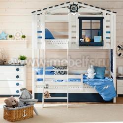 Кровать-домик 2-яр №2 из массива
