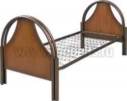 """Кровать детская металлическая """"Студент"""" (сетка зиг-заг)."""