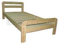 Кровать деревянная Ева (90х200) из массива сосны.