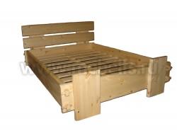Двуспальная кровать Скандинавия 140х200 из сосны.