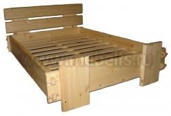 Односпальная кровать Скандинавия (120х200) из массива сосны.